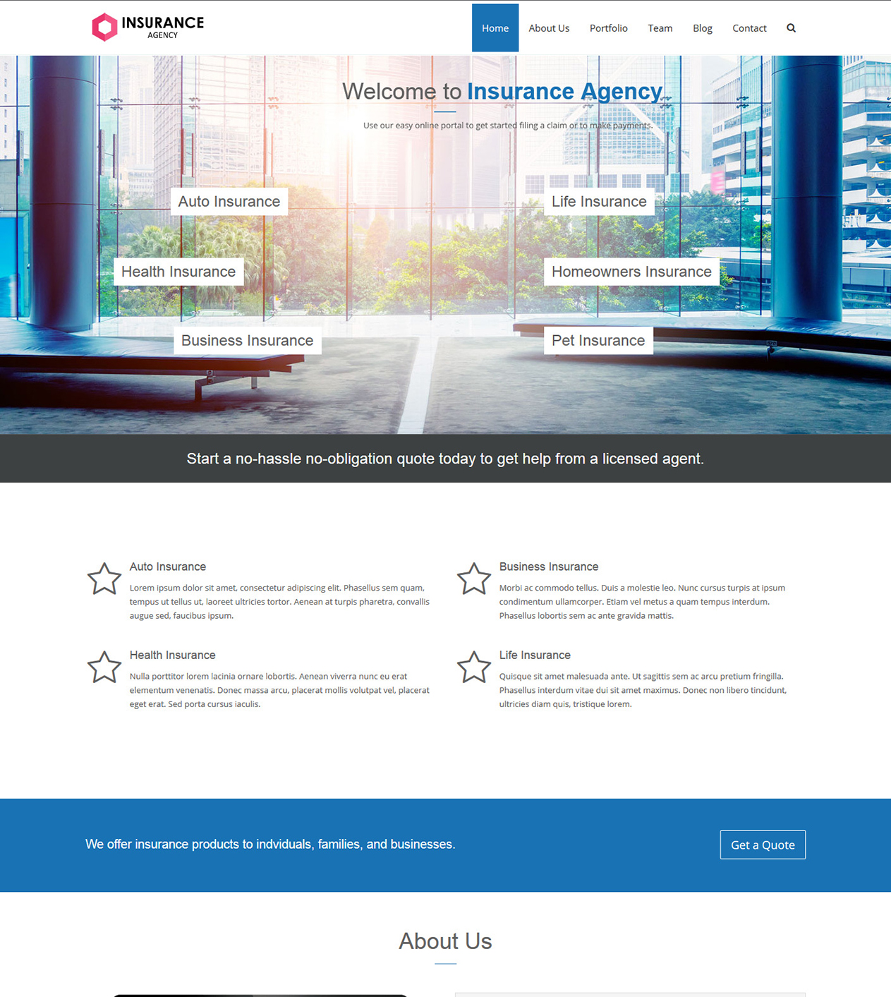 Insurance Agency - Our Themes